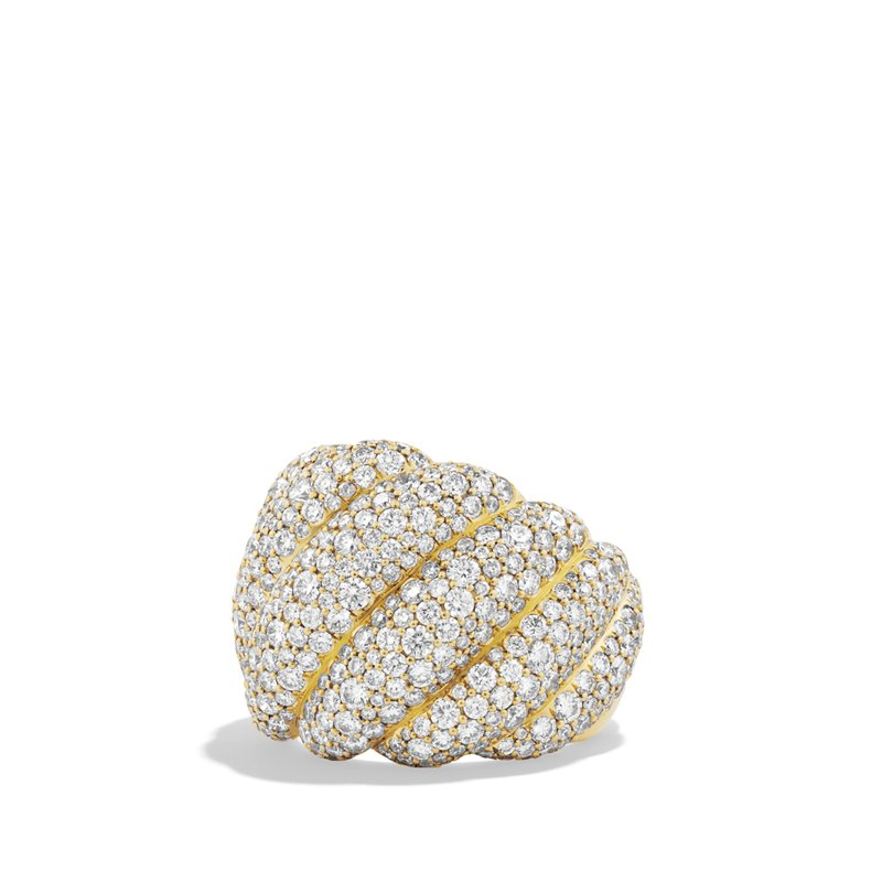 David Yurman Hampton Pave Ring with Diamonds
