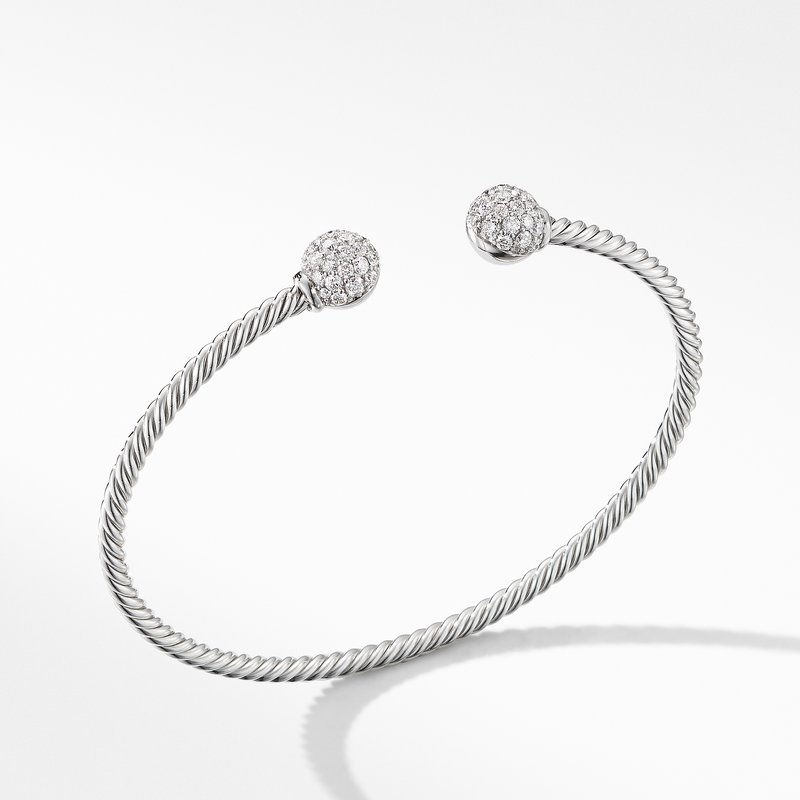 David Yurman Solari Bracelet in 18K White Gold with Diamonds