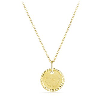 """T"" Pendant with Diamonds in Gold on Chain"