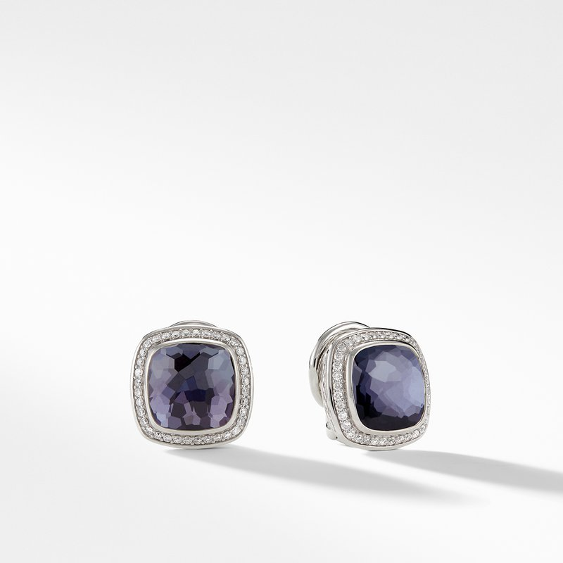 David Yurman Earrings with Black Orchid and Diamonds