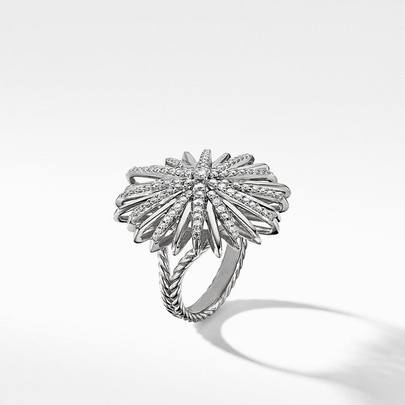 David Yurman Starburst Ring with Pavé Diamonds