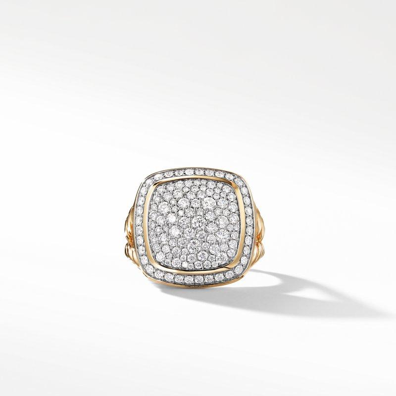 David Yurman Ring with Diamonds in 18K Gold