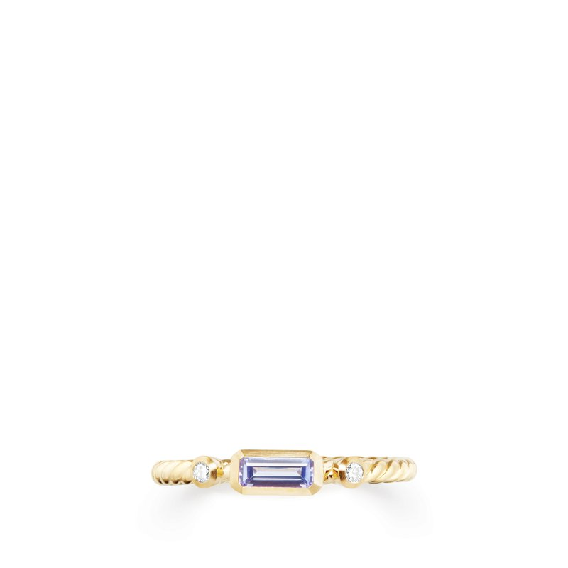 David Yurman Novella Ring in Tanzanite with Diamonds