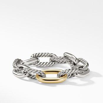 DY Madison Large Bracelet with 18K Gold, 13
