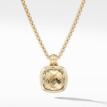 Albion® Pendant with Champagne Citrine and 18K Yellow Gold