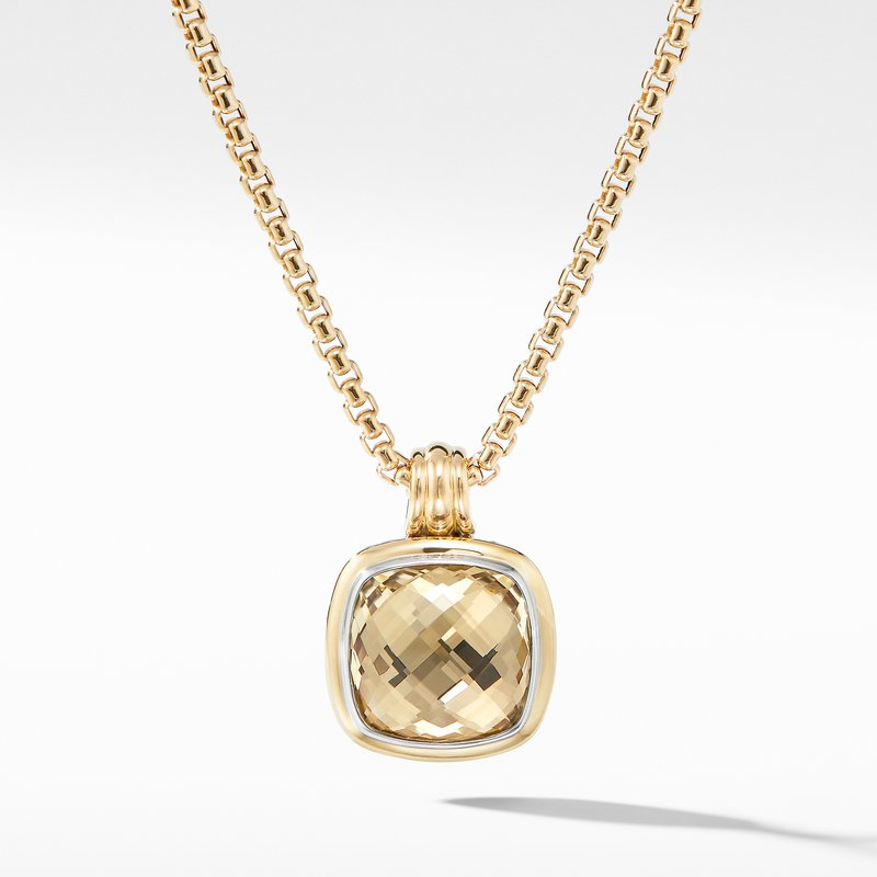 David Yurman Albion® Pendant with Champagne Citrine and 18K Yellow Gold