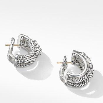 Buckle Shrimp Earrings with Diamonds