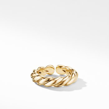 Gold Flex Band Ring in 18K Yellow Gold