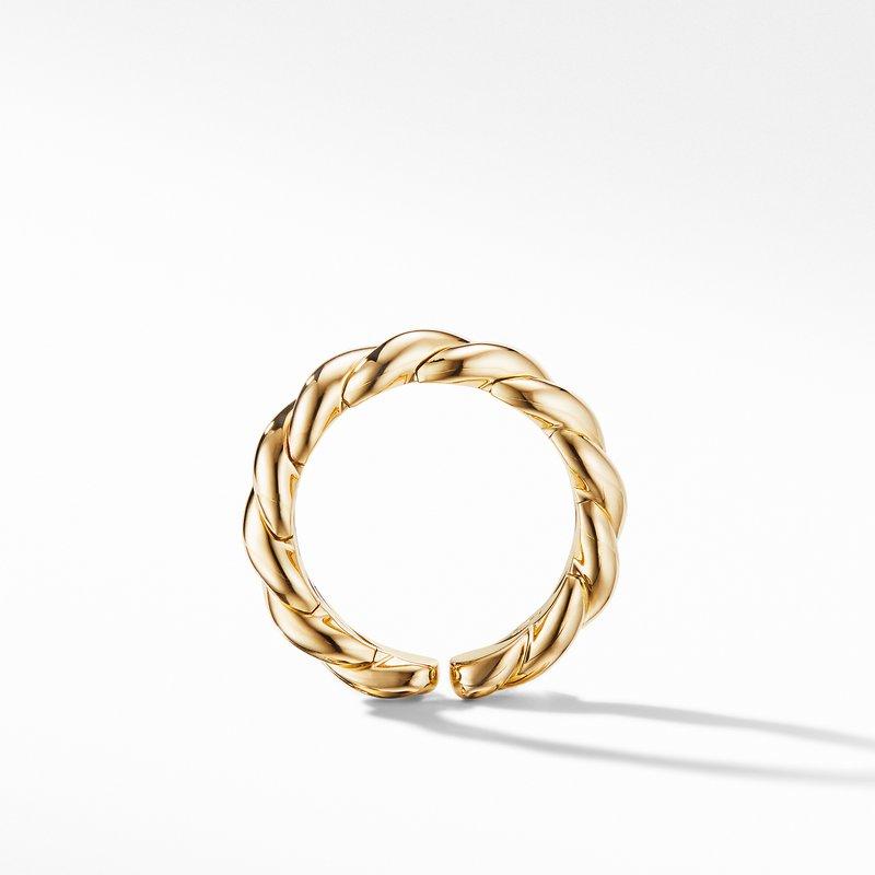 David Yurman Gold Flex Band Ring in 18K Yellow Gold