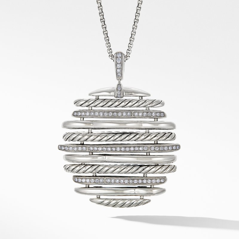 David Yurman Tides Pendant Necklace with Diamonds