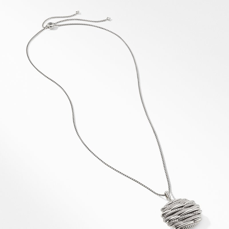 David Yurman Tides Pendant Necklace with Diamonds