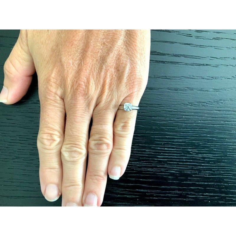 Pre-Loved Jewelry Tiffany Lucida .82 ct G VVS2 $10k NEW