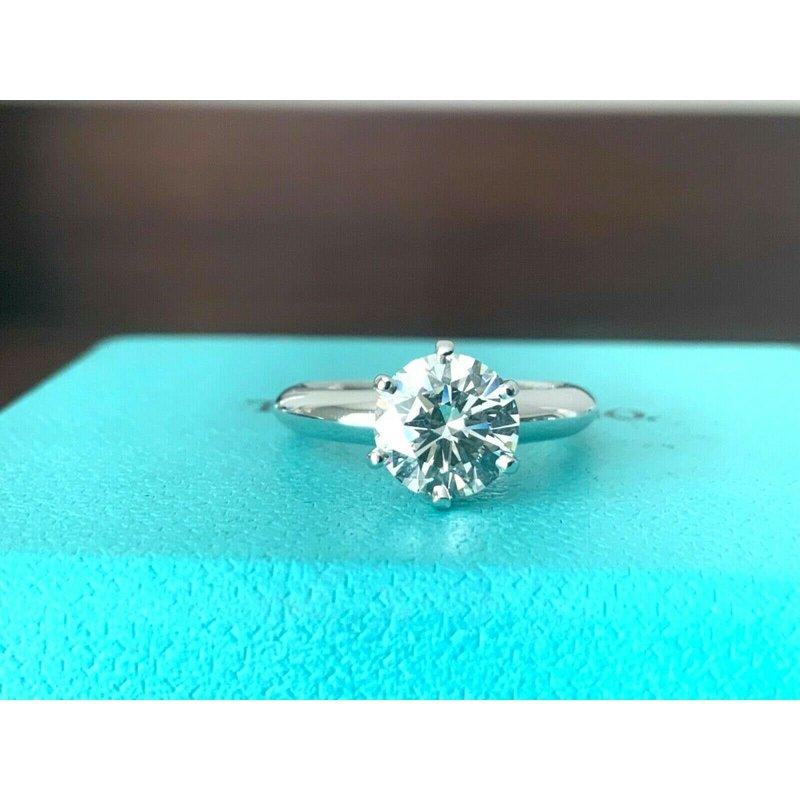 Tiffany Round 1.28 ct I VS1 $22k NEW