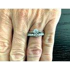Pre-Loved Jewelry Diamond V Band 12 Diamonds 3 mm .60 tcw $3k NEW