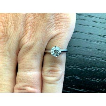 Tiffany Round .86 ct F VS1 3 EXC $11k NEW