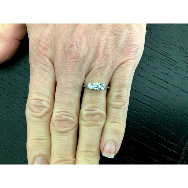Pre-Loved Jewelry Tiffany 3 Stone .84 ct I VS 3 EXC $7k NEW