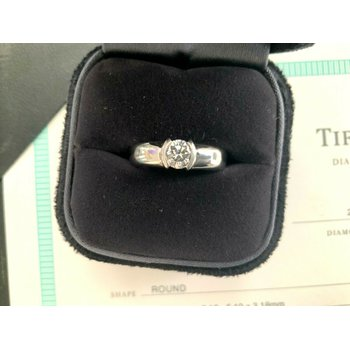 Tiffany Etoile .52 ct F VS1 3 EXC $7200 NEW