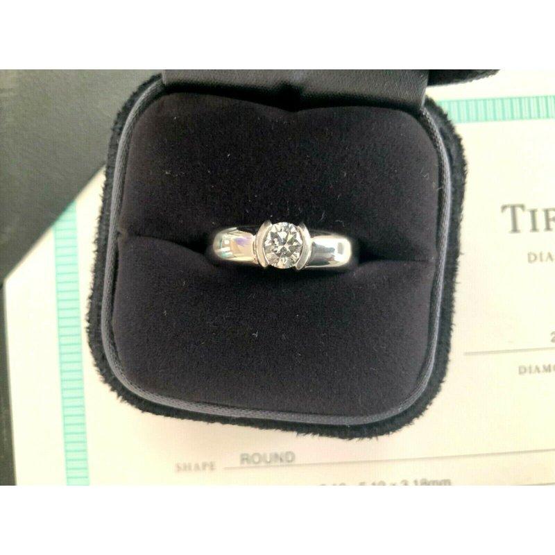 Pre-Loved Jewelry Tiffany Etoile .52 ct F VS1 3 EXC $7200 NEW
