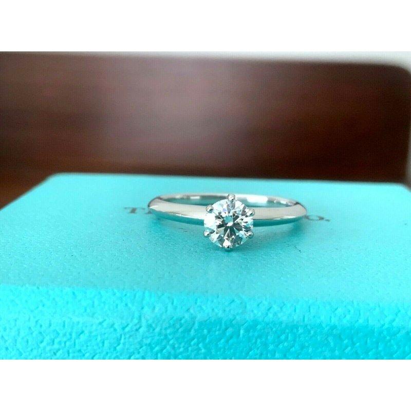 Pre-Loved Jewelry Tiffany Round .49 ct E VVS2 2018 Model $7k NEW