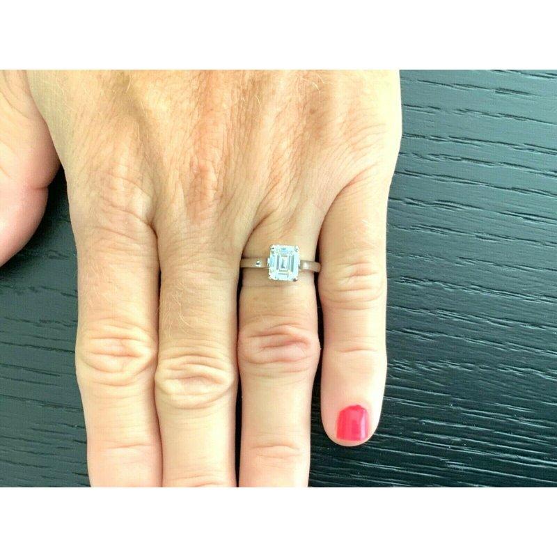Pre-Loved Jewelry Tiffany Emerald Cut 2.02 ct H VVS2 $53k NEW