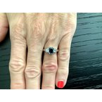 Pre-Loved Jewelry 1.13 ct UNHEATED Sapphire and Diamond Ring