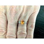 Pre-Loved Jewelry Spessartine Garnet 1.58 ct Pear w Diamonds