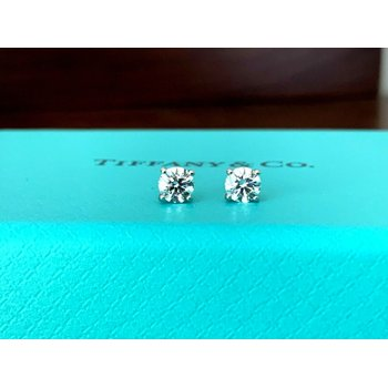 Tiffany .56 ct Diamond Stud Earrings BRAND NEW UNWORN 2021 Model