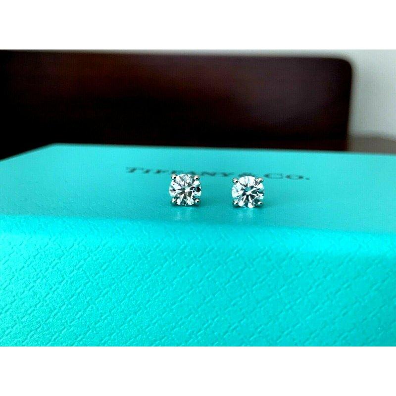Pre-Loved Jewelry Tiffany .56 ct Diamond Stud Earrings BRAND NEW UNWORN 2021 Model