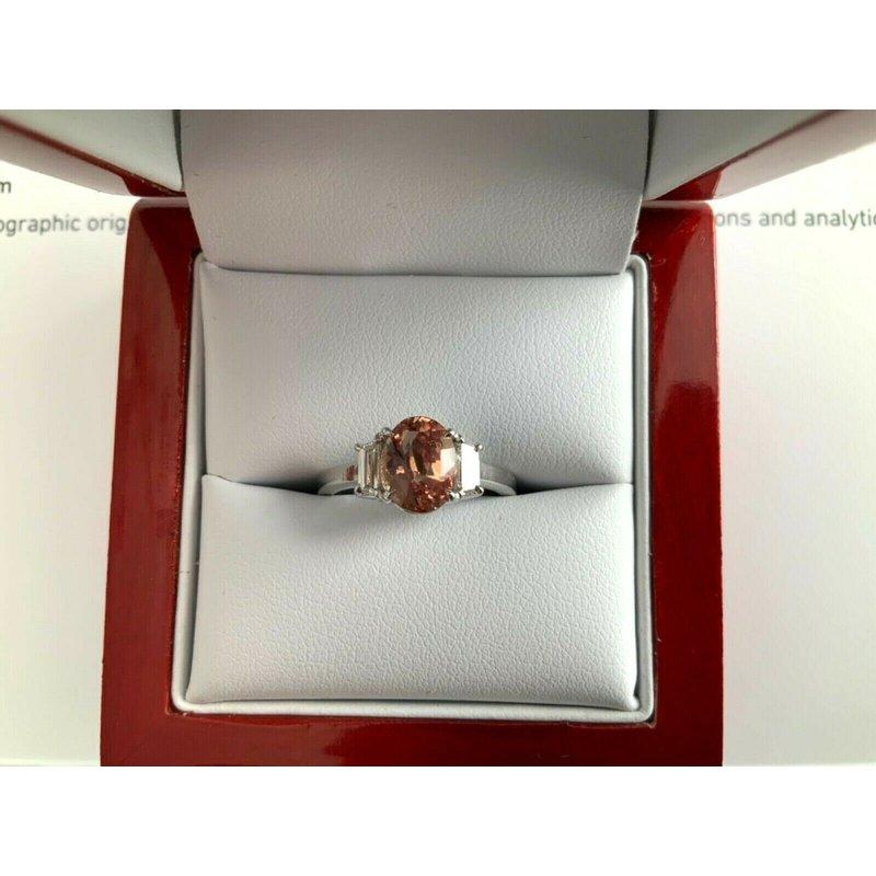 Pre-Loved Jewelry 2.01 ct RARE Pink Padparadscha Sapphire Diamond Ring
