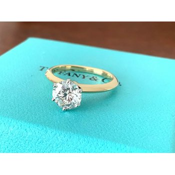 BRAND NEW 2021 Tiffany 1.36 ct Round 18k Gold