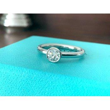 Tiffany Round Bezel Set .49 I VS2 3 EXC $4200 NEW