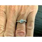Pre-Loved Jewelry Tiffany Round Bezel Set .49 I VS2 3 EXC $4200 NEW