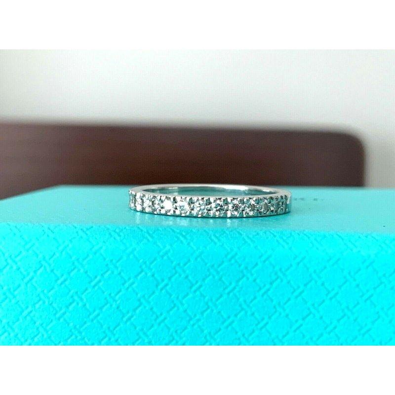 Pre-Loved Jewelry Tiffany NOVO Half Eternity Diamond Band $2500 NEW