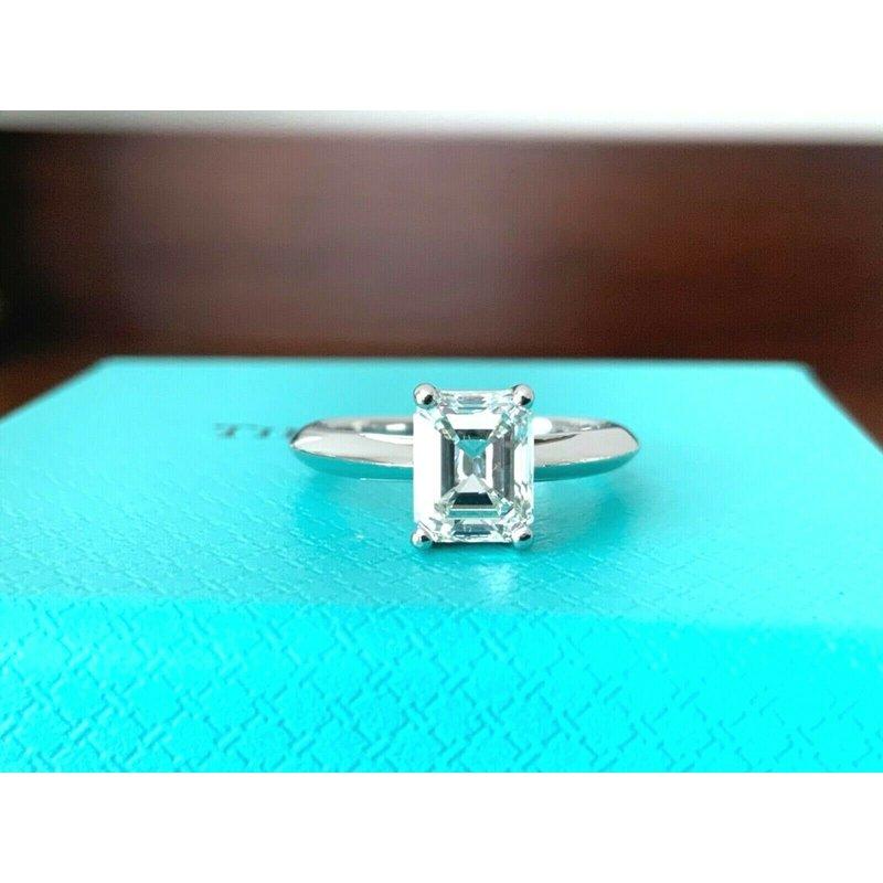 Tiffany Emerald Cut 1.33 ct H VVS2 $20k NEW