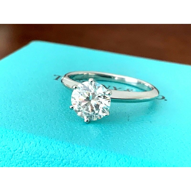 Pre-Loved Jewelry Tiffany Round 1.43 ct I VS2 3 EXC 2019 Model $24k