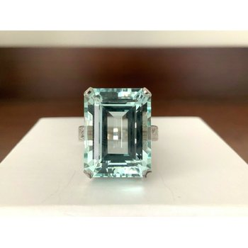 19.06 ct Aquamarine Diamond Ring