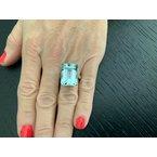 Pre-Loved Jewelry 19.06 ct Aquamarine Diamond Ring
