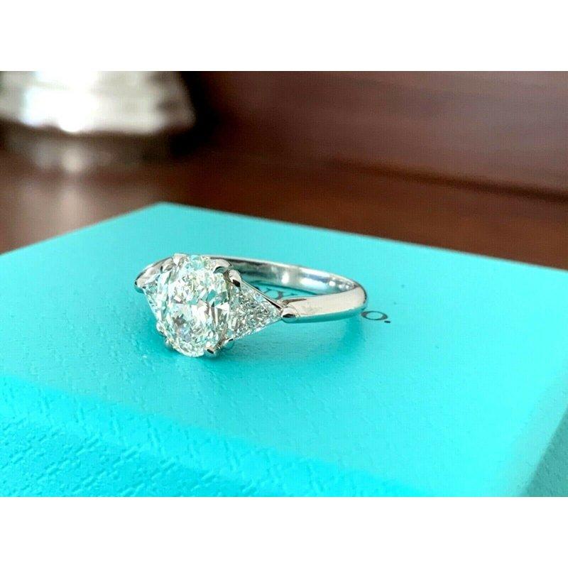 Pre-Loved Jewelry Tiffany Oval Three Stone 1.42 ct $19k NEW