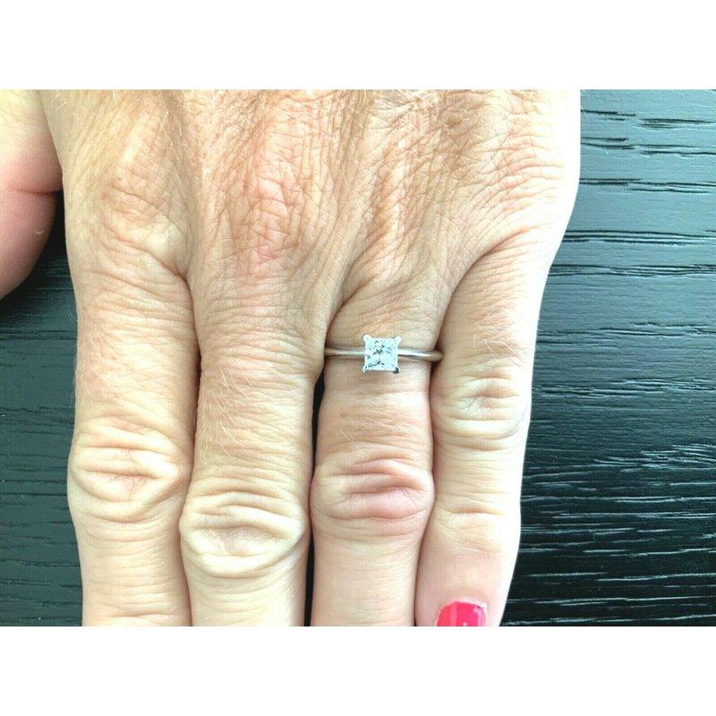 Pre-Loved Jewelry Tiffany Princess .53 ct E VVS2 $6k NEW
