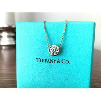 Tiffany 1.04 ct Round Diamond Necklace F VS1