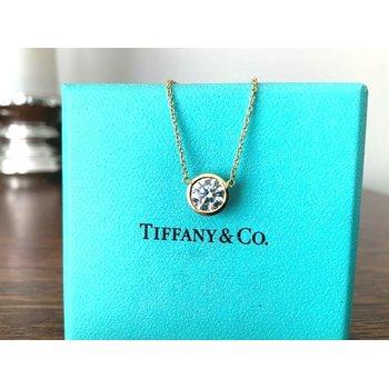 Tiffany 1.04 ct Round Diamond Necklace F VS1