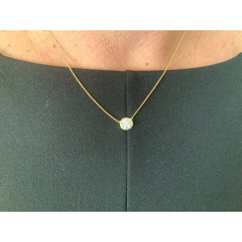 Pre-Loved Jewelry Tiffany 1.04 ct Round Diamond Necklace F VS1