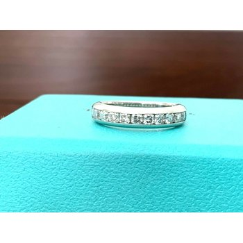 Tiffany LUCIDA Diamond Wedding Band .55 ct $6k NEW