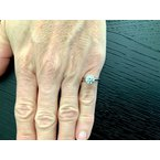 Pre-Loved Jewelry Tiffany Round 1.42 ct H VS2 3 EXC $28k NEW