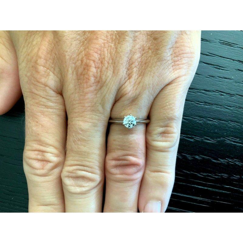 Pre-Loved Jewelry Tiffany Round .51 ct 2020 MODEL $6k NEW
