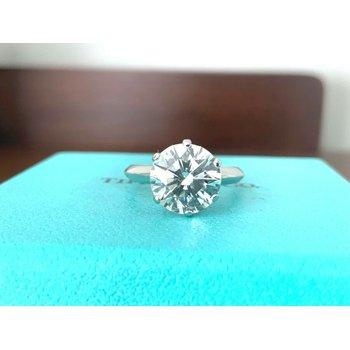 Tiffany Round 2.67 ct H VVS2 $83k NEW