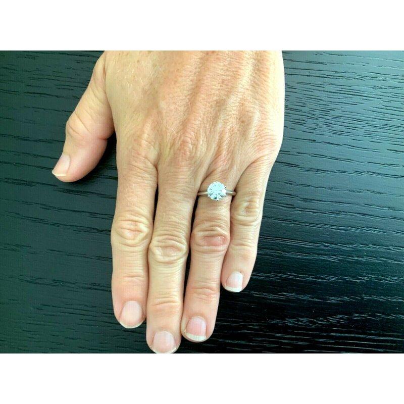 Pre-Loved Jewelry Tiffany Round 2.67 ct H VVS2 $83k NEW