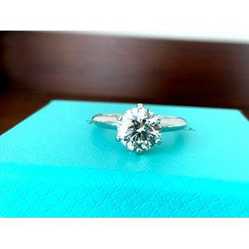 Tiffany Round 2.01 ct H VVS1 3EXC $64k NEW 2019