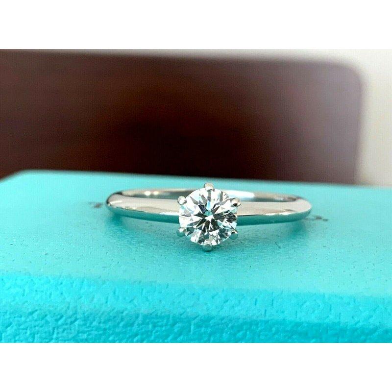 Tiffany Round .46 ct I VS2 $4k NEW