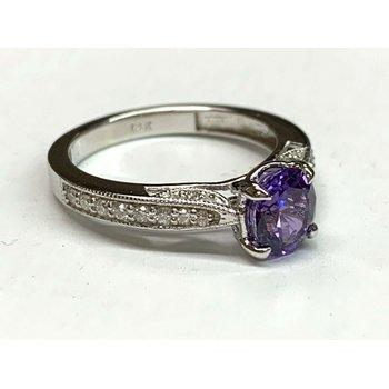 1.28 UNHEATED Purple Sapphire GIA Cert RARE